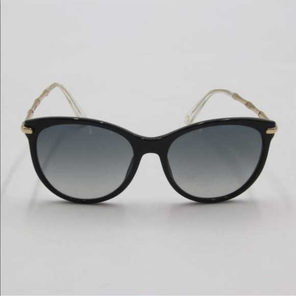 Gucci cat eye sunglasses with bamboo gold